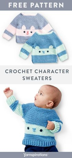 These free crochet baby sweater patterns look great worked up in Bernat Softee B. These free crochet baby sweater patterns look great worked up in Bernat Softee Baby! With this yarn Crochet Baby Sweater Pattern, Crochet Baby Sweaters, Baby Sweater Patterns, Crochet Amigurumi Free Patterns, Crochet Baby Clothes, Baby Patterns, Crochet Stitches, Baby Knitting, Free Crochet