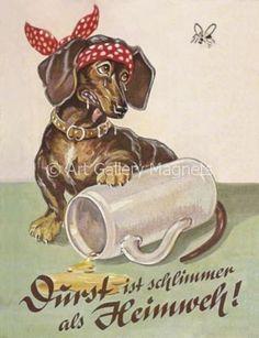 BEER STEIN German Vintage Print