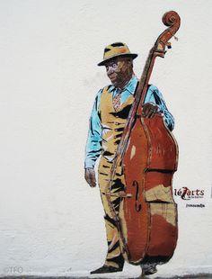 Jazz Musician #street #art #Paris www.travelfranceonline.com