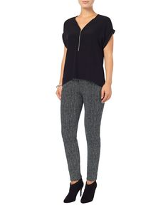 Black Mila Print Trousers | Phase Eight