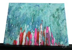 "Abstract Art Stain-Acrylic Painting | ""Under the Sea"" - Second Touch Art"