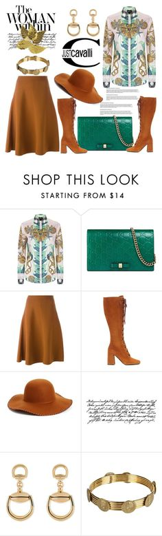 """""""Silk Blouse #2"""" by hastypudding ❤ liked on Polyvore featuring Just Cavalli, Gucci, Marni, Prada, Phase 3, Tim Holtz, Woman Within, Dolce&Gabbana, Darice and contest"""
