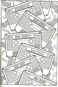 Cassette Tape Coloring Page Find This Pin And More On Color Me Happy