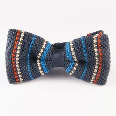 Could knit this for the boys - Cindy Crochet Bows, Knit Or Crochet, Knit Tie, Tie And Pocket Square, Tie Knots, Crochet Accessories, Baby Knitting, Tie Clips, Casual Suit