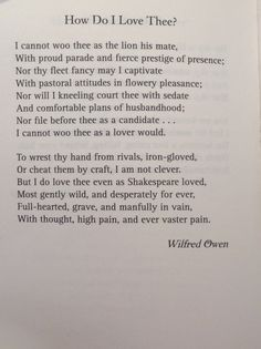 greater love wilfred owen essay
