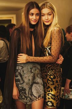 "blissfully-chic: ""Gigi Hadid and Taylor Marie Hill - Backstage at Emilio Pucci, Fall 2015 RTW Photographs by Piczo for i-D Magazine """