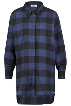 Penn & Ink N.Y Damen Flanellshirt Blau/Schwarz | SAILERstyle Button Down Shirt, Men Casual, Shirt Dress, Mens Tops, Shirts, Dresses, Fashion, Shirt Collars, Flannel