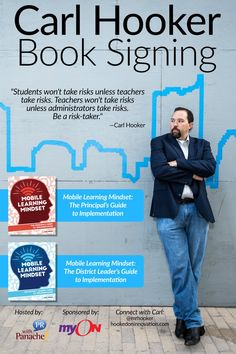 Ian Bryan ‏@iamianbryan Wanna clean copy of @mrhooker's new book? Follow @ormiboard during #ISTE2016 - giving away signed copies each hour!
