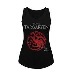 Camiseta Tirantas Juego de Tronos Casa Targaryen Diseño Brillo Glitter 002 de SportShirtFactory en Etsy