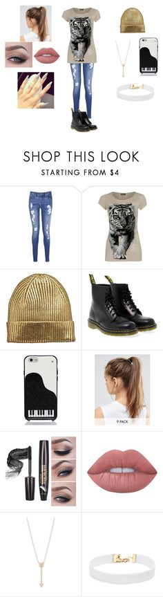 """""""Untitled #267"""" by raven-legs ❤ liked on Polyvore featuring Tommy Hilfiger, WearAll, Dr. Martens, Kate Spade, NIKE, Lime Crime, EF Collection, Vanessa Mooney and casual"""