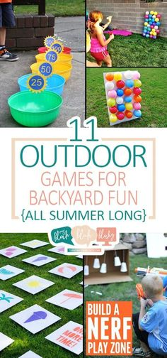 11 Outdoor Games for Backyard Fun {All Summer Long} Summer Activities for Kids Easter Outdoor Games, Outdoor Games For Toddlers, Outdoor Fun For Kids, Summer Fun For Kids, Outdoor Activities For Kids, Fun Games For Kids, Kids Party Games, Birthday Party Games, Backyard For Kids