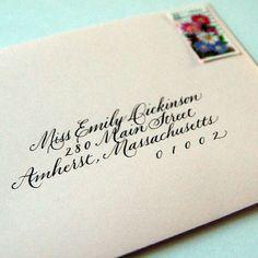 Formal Copperplate | Envelope addressing | calligraphy by Linda Yoshida