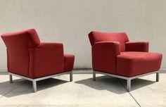 Vintage Modern Carlyle Lounge Chairs By Krug Furniture  Mid Century Modern  #MidCenturyModern #KrugFurniture