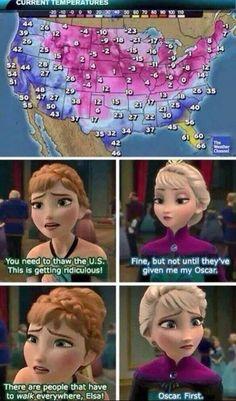 Frozen meme. oscer first! frozen won 2 oscars yay!!! :) !!!!!!!!!!!!!!!