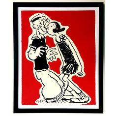 Framed Popeye print available from Doris Brixham 53cm x 43cm