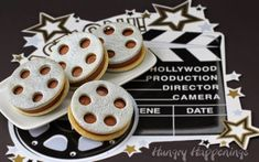 Whether you are hosting an Academy Awards party of just having friends over for a movie night, these Film Reel Ice Cream Sandwichesare red-carpet worthy and a sure win for the award of best dessert.