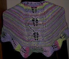 Ravelry: Azalea Leaves Shawl pattern by Mary C. Gildersleeve #knit, #knitting, #handknitting, #lace, #shawl, #BHWHknits, #MaryGknits, #design, #knitdesign