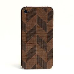 Chevron iPhone 4/4S Back Black now featured on Fab.