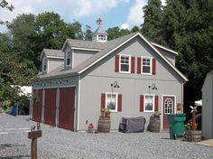 Shop our selection of garages with customizable options including added living quarters and dormers. Add space to your property with a prefab garage. Garage Loft, 3 Car Garage, Stoltzfus Structures, Garage With Living Quarters, Prefab Garages, Garage Apartments, Horse Barns, Photo Galleries, Shed