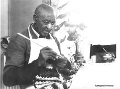 George Washington Carver crocheting #craftinginblackhistory