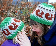 Squirrels by Signe S. Simonsen - This pattern is available for free. After that, the little red squirrels of my home town became one of the little familiar things I missed, when I was feeling nostalgic. I've been living back in my home town - Copenhagen, Denmark, for years and years now, but spotting one of the little red squirrels still makes me smile.