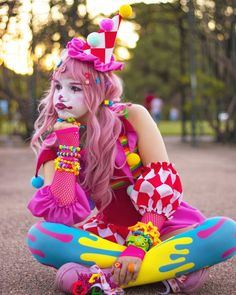 Harajuku Fashion, Kawaii Fashion, Character Inspiration, Character Design, Popee The Performer, Cute Clown, Pierrot, Clowning Around, Circus Clown