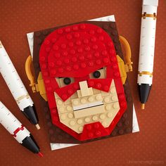https://flic.kr/p/ub9j9X | Rerun | Brick Sketch #40. Last week's Flash Brick Sketch was based on the costume in the current television show, featuring dark red hues and subdued details. And that was okay for the show's fans, but it didn't sit as well with folks more familiar with the Flash's comic book appearance. Fair enough. So here you go – a traditional Flash!