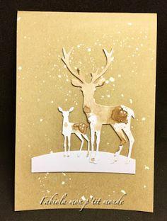 mon p'tit monde Stamp, Winter Wonderland, Moose Art, Craft, Animals, Brown Paint, White Paint Color, Romantic Scenes, Bristol Board
