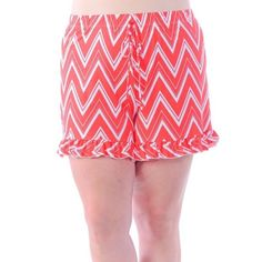 ❗️ COMING SOON ❗️ Plus Size Chevron Ruffle Shorts.  Like this post to be notified of arrival and price drop. Sizes 1x-4x Bellino Clothing Shorts