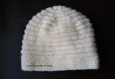 Les petites mailles de Marie: Bonnet taille naissance au point de godron Bonnet Crochet, Beret, Beautiful Babies, Baby Dress, Point, Couture, Knitting, Sewing, Hats