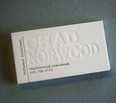 I like these cards   ---  Chad Norwood