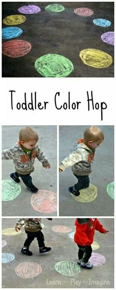 Toddler color hop