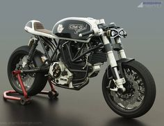 Ducati Cafe Racer design C SK-O by Arienti Design #motorcycles #caferacer #motos…