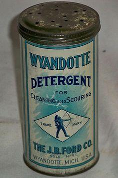 💚Vintage TexaWyandotte Detergent Can Tin