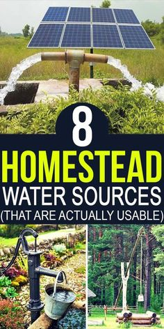 Water is essential for every living thing on this earth. It is key for our healthy lives. Do you know the average person uses around gallons of water a day? which means a lot in a month and huge in a year. Homestead Survival, Survival Prepping, Survival Skills, Survival Books, Survival Items, Survival Quotes, Wilderness Survival, Off Grid Homestead, Homestead Living
