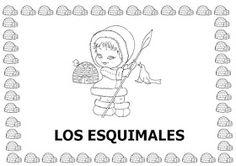 """Maestr@s de infantil: PROYECTO: """"LOS ESQUIMALES"""" Polo Norte, Colouring Pages, Preschool Activities, Album, Comics, Winter, Art, Pirates, Frozen"""