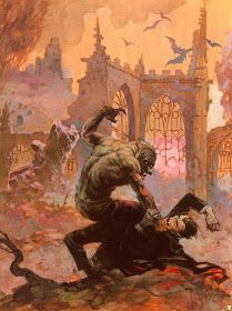 Frank Frazetta The Disagreement painting for sale, this painting is available as handmade reproduction. Shop for Frank Frazetta The Disagreement painting and frame at a discount of off. Frank Frazetta, Arte Sci Fi, Image Comics, Arte Horror, Horror Art, Horror Comics, Creepy Paintings, Creepy Art, 70s Sci Fi Art