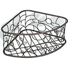 InterDesign Twigz Suction Corner Basket, Bronze