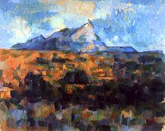 Paul Cézanne-La Montagne Sainte-Victoire (1904-1906) >>> Stand-out colours in this one. Nice work, M. C!