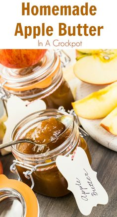 I really love Homemade Apple Butter, but I'm not a fan of what I can find in the grocery store. Here is an easy Homemade Apple Butter recipe. Done in a crock pot. Healthy Slow Cooker, Slow Cooker Recipes, Crockpot Recipes, Cooking Recipes, Delicious Desserts, Dessert Recipes, Easy Desserts, Breakfast Recipes, Snack Recipes