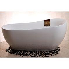 Modern Slipper 71-inch Freestanding Acrylic Bathtub