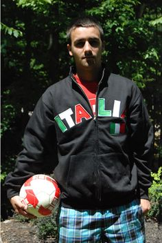 Italia Cadet Sweatshirt in black $23.96