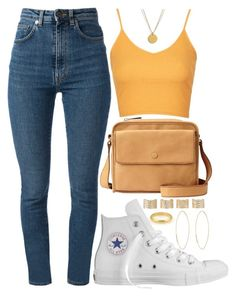 """Casual Day"" by rayray669 ❤ liked on Polyvore featuring Cartier, Topshop, Converse, Yves Saint Laurent, FOSSIL, Maison Margiela, Lana and Dogeared"