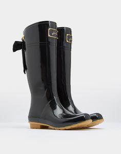 Evedon Black Premium Rain Boots | Joules US