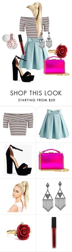 """""""Bea Miller Meet &Greet"""" by btr1girl ❤ liked on Polyvore featuring Topshop, Chicwish, Boohoo, Mark Cross, House of Harlow 1960, Oscar de la Renta and Smashbox"""
