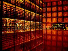 Beineke Library - Yale Rare Book Library by Gordon Bunshaft, SOM. Image by N. Hollot