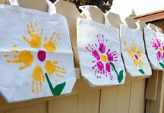 Homemade tote bags by Paint Cut Paste