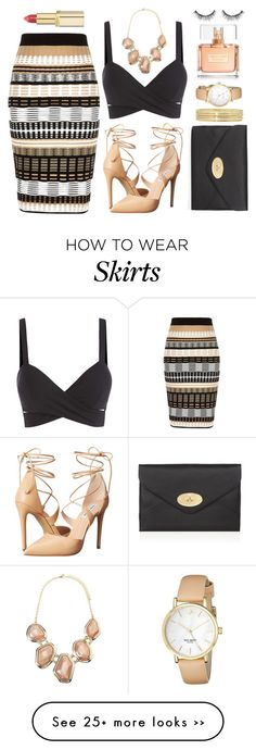 """""""Printed Skirt"""" by aleksandravidic on Polyvore featuring River Island, Steve Madden, Mulberry, Forever 21, Liz Claiborne, Kate Spade, Givenchy, L'Oréal Paris and Sephora Collection"""