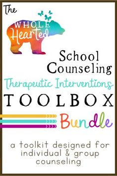 School Counseling Bundle: Solution Focused Individual & Small Group Co… School Counselor Office, Elementary School Counselor, School Social Work, Elementary Schools, School Counselor Organization, School School, School Office, Group Counseling, Counseling Activities