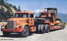 Diamond T | Diamond T P400 Series Fire Truck at a lot in Yakima, WA., July 1999 .